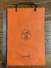 Hermes Medium Paper Shopping Bag. In Excellent Condition 100% Genuine.