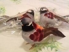 "NEW! LOT OF 3 ARTIFICIAL BIRDS FOR CRAFTS BEAUTIFUL AND COLORFUL!  4"" X 2 1-2"""
