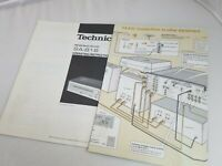 Instruction Manual User Booklet Guide Paperwork Technics SA-818 Stereo Receiver