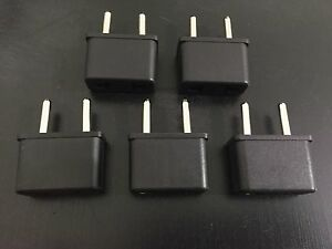 5 Travel Charger Converter US to EU/RU European Adapter Plug for Power Adapter