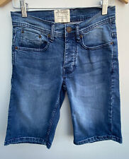 Men's Denim Shorts Size 28 Blue Burtons <MM1278