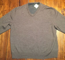CLUB ROOM Men's Merino Wool V-Neck Sweater Brown Size Large Pre-Owned NICE!