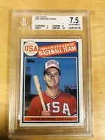 1985 Topps #401 Mark McGwire BGS 7.5 Near Mint+ RC Rookie OLY USA 7,9,9,8.5 PSA?