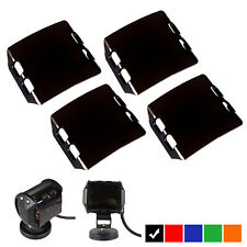 4X Black Cover Lens For 4'' inch 18W LED Work Light Bar Fog Lamp Jeep Offroad