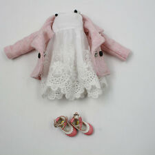 "3PCS Takara 12""Blythe Doll Factory The New Winter Pink Outfits  Dress"