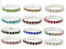 Crystal Toe Rings Stretch Band Jewelry Lot of 12