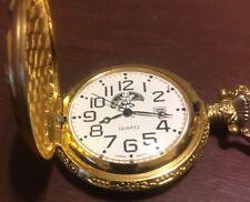 Bald Eagle unknown Pocket Watch quartz Japan movt works # 349