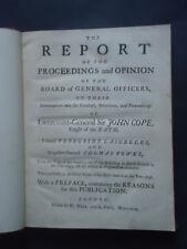 JACOBITE REBELLION : Report & Proceedings of Lt. General Sir John Cope: 1st 1749