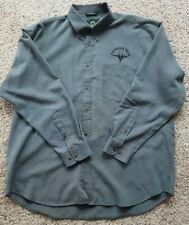 Men's XL Weather Proof Dress Shirt - F-15 Eagle Team - Green/Gray