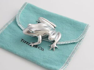 Tiffany & Co RARE Silver Frog Paperweight  Paper weight