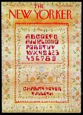 New Yorker magazine framing cover September 10 1973 computer font embroidery