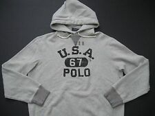 "POLO RALPH LAUREN Men's ""USA 67 POLO"" Cotton Blend Fleece Hoodie XL"