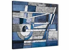 Indigo Blue White Painting Bathroom Canvas Accessories - Abstract 1s404s - 49cm