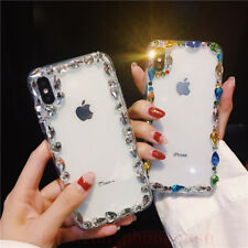 Luxury Bling Diamond Rhinestone Crystal Clear Case Cover For LG/Samsung/iPhone