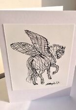Pegasus, ART GIFT/Birthday Card Printed From An Original Drawing