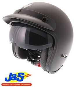 XS Frank Thomas FLH01 Flip Front Motorcycle Helmet Modular Matt Black J/&S