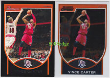 (2) 2007-08 BOWMAN + BOWMAN CHROME: VINCE CARTER #40 NJ NETS BASE CARD LOT