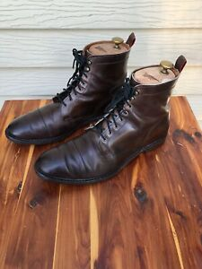Allen Edmonds First Ave Dark Brown Cap Toe Boots Men's Size 10D