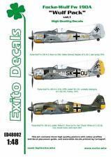 EXITO DECALS ED48002 - 1:48 Wulf Pack vol.1 - Focke-Wulf Fw 190A