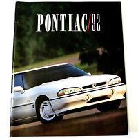 PONTIAC 1992 Vintage SALES BROCHURE /FULL PRODUCT LINE CATALOG Original 96 PAGES