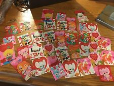 Vintage Lot Of 1960S Valentine's Day Greeting Cards Children's Baby Animals