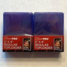 50 Total Ultra Pro Regular 3x4 Top loaders Toploader (2) packs of 25 - FAST SHIP