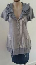 Cotton Blend Unbranded Hand-wash Only Striped Tops & Blouses for Women