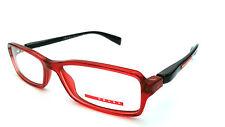 PRADA DESIGNER FRAMES GLASSES VPS04B 53-15-140 COL.RED/BLACK  NEW 100% AUTHENTIC