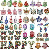 Full Drill 5D DIY Diamond Painting Key Chain Keyring Handmade Pendant Key Gifts