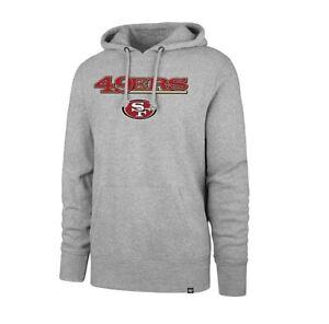 San Francisco 49ers Men's '47 Brand Headline Pullover Hoody Sweatshirt - Gray