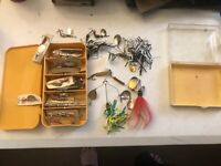 Vintage 1960's lot of fishing bait many in packages new