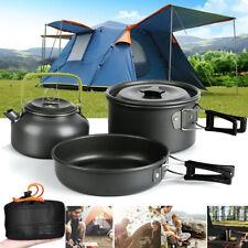 2-3 Person Kochtopf Camping Kochgeschirr Outdoor-Töpfe Bratpfanne Kettle Set TR
