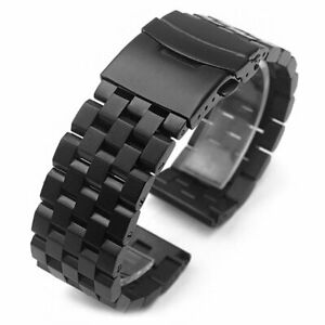 Screw Solid Links Stainless Steel Watch Strap Band Bracelet 18 20 22 24 26mm
