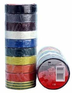3M Temflex 1500 Assorted Electrical Tape 10 Rolls 15mm x 10m DE-2729-5138-0 0.15