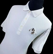 GREG NORMAN Mickey Mouse White Short Sleeve Performance Golf Polo Shirt Mens XL
