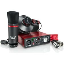 Focusrite Scarlett Solo Studio Pack  Interface Mic Heaphones  UPC 815301008477