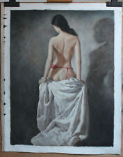 """Fine art female nude repro oil painting on canvas back girl painted 24""""x32"""""""