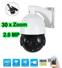 30X Zoom 1080P 2.0 MP Outdoor PTZ IP Speed Dome IR Camera Night CMOS ONVIF IP66
