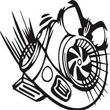 RACING STICKER Turbo Funny Car Window Bumper JDM VW Vinyl Sponsor Decal