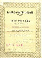 NEDERLAND- JAVA-CHINA--LINE -AANDEEL 1000. x12 1951 =SPECIMEN = ( de BUSSY)
