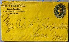 Thos Gerrish Lancaster Tonic Bitters Boston Mass 1c Franklin Postal envelope
