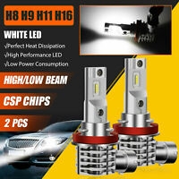 2X H11 H9 H8 120W 40000LM 6000K CSP LED Headlight High Low Beam Fog Light Bulbs