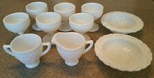 Lot of 10 pc Imperial Glass Star Holly Pattern White Milk Glass 1952 MINT!