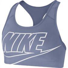 Nike Swoosh Women's Medium Support Sports Bra (Dusty Blue) RRP £25