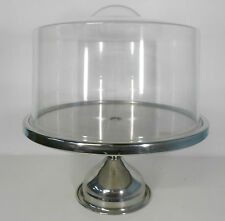 Cake Stand Tall with Round Acrylic Cover Acrylic Handle