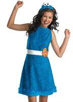 Cookie Monster Costume Dress Teen Tween Childs Sesame Street - L 10-12, XL 14-16