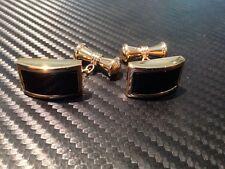 CATENA francese Gemelli in oro con agata Nero mozzafiato tutti fatti a mano nuovo per 2016