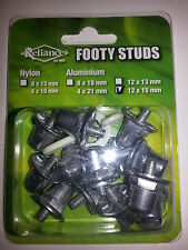 RELIANCE FULL ALUMINIUM METAL SCREW IN FOOTY STUDS, 8x18mm and 4x21mm *NEW*
