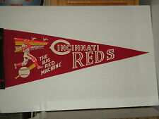 Vintage Late 60s Early 70s Cincinnati Reds Full Size Pennant Big Red Machine