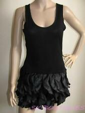 NEW MISO REPUBLIC BLACK RUFFLE FRILL DRESS 8 10 12 14  **BARGAIN**